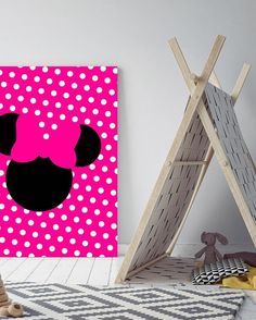 Minnie Mouse Pop Canvas Art @ http://artzeedesigns.com/products/minnie-mouse-pop-canvas-art.html