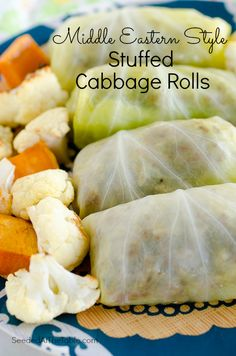 Cabbage Rolls stuffed with Middle Eastern spiced ground beef by SeededAtTheTable.com
