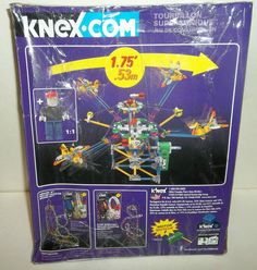 K'nex Space Themed Amusement Park Series Supersonic Swirl Building New in Box