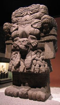 The Coatlicue Statue that was uncovered in the Plaza of Mexico