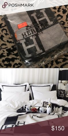 H Blanket First photo is actual product, second photo for style inspo. Measures 158 x 138 centimeters. Bundle with other items for additional discounts! Accessories