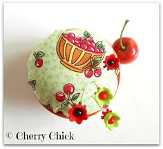 Pincushion - Cherry Bowl <3