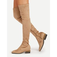 Square Toe Side Zipper Suede Boots ❤ liked on Polyvore featuring shoes, boots, side zipper boots, suede leather shoes, square toe shoes, side zip shoes and square toe boots