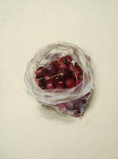 Leticia Feduchi. Cerezas, 2010 Óleo sobre tabla, 34 x 26 cm