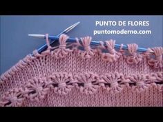 Knit Point of Flower Stitch Free Knitting Pattern+Video Arm Knitting, Baby Knitting Patterns, Stitch Patterns, Crochet Patterns, Lidia Crochet Tricot, Knitting For Beginners, Crochet Stitches, Free Pattern, Purl Stitch