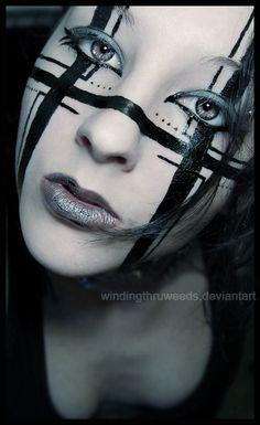 =windingthruweeds Design and Direction: Me. Make-up Collaboration 4 Robot Makeup, Punk Makeup, Sfx Makeup, Costume Makeup, Beauty Makeup, Rave Makeup, Witch Makeup, Gothic Makeup, Eyeliner Makeup