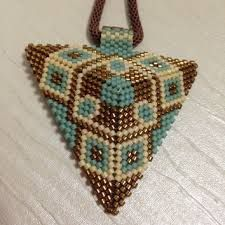 Image result for peyote stitch necklace pendants