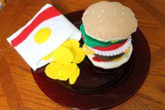 Fun Felt Burger Playset - Foodista.com