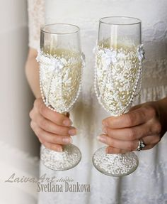#wedding #champagne #flutes #glass