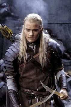 Orlando Bloom as Legolas in the Lord Of The Rings trilogy.