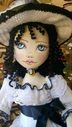Bonecas de pano.  Dama Antiga.  Soraia Flores.