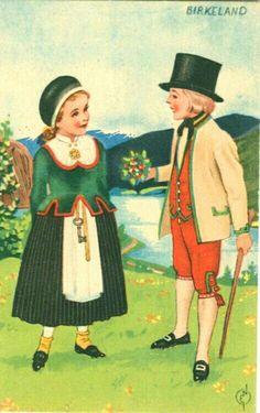 Bunadskort av Erling Nielsen Birkeland