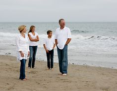 Family Picture at the Beach  Not crazy about how they're looking but like positioning.