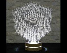 Cubic, 3D LED Lamp, Art Lamp, Acrylic Lamp, Art of Light, Home Decor, Artistic…