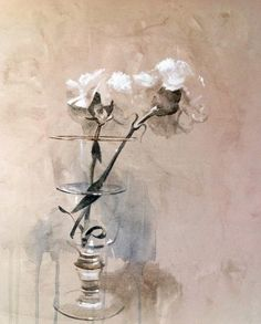 Raindrops and Roses Art Floral, Watercolour Painting, Watercolor Flowers, Raindrops And Roses, Still Life Art, Watercolor Techniques, Botanical Art, Japanese Art, Flower Art