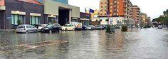 Pescara allagata dalla pioggia ininterrotta