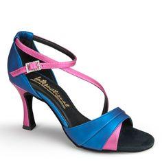I really need these for my dance classes. £88.00 International Dance Shoes | Ladies Social Dance Shoes Online, UK | Karina - Blue Seta/Pink Seta