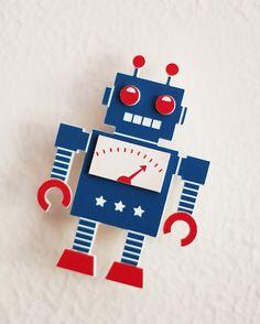 Retro Robot Brooch by bRainbow