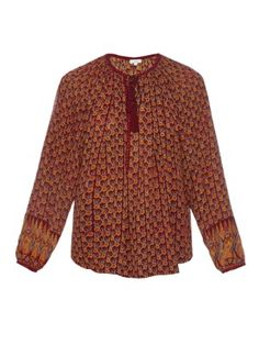 Floral block-print silk blouse  | Talitha | MATCHESFASHION.COM US