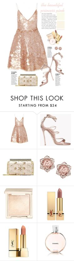 """the beautiful princess pink"" by licethfashion ❤ liked on Polyvore featuring Monique Lhuillier, Dsquared2, Oscar de la Renta, Jouer, Yves Saint Laurent and Chanel"