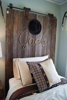 faire une tête de lit soi-même, tête de lit de vieux portail