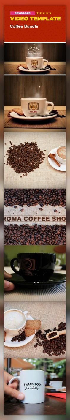 ad, aroma, bar, beverage, cafe, coffee, cup, drink, food, mockup, morning, promo, restaurant, scent, shop About The Coffee bunde template is collection of 7 different scenes. Suitable for ads, mockups, coffee shops…etc. I hope you will enjoy it. Info  CS5 and higher No plug-ins required Full HD | 25 fps Even though is simple enough, tutorial is included All video clips from preview are included in project Main logo is not included in project Brochure and Logo  used in preview  Audio file ...