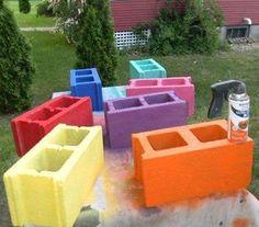 Cinder blocks for garden.