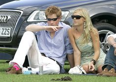 Prince Harry and and Chelsy Davy sitting on a lawn together. Chelsy has said she will 'always be good friends' with Harry
