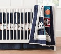 Liam Sports Crib Fitted Sheet | Pottery Barn Kids