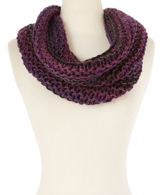 Another great find on #zulily! Purple Metallic Infinity Scarf #zulilyfinds
