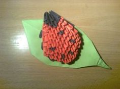 3D origami Lady Bug by Michaelle111