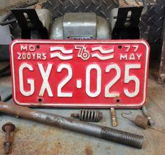Vintage Bicentennial 1976 Missouri License Plate 76 by GreenBeeKC, $14.99