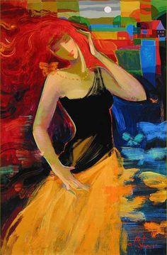 Irene Sheri - Pictify - your social art network Open Art, Social Art, Yellow Art, Cultural, Woman Painting, Native American Art, Figurative Art, Art World, Female Art