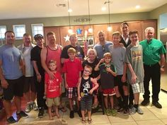 Gathering of the men for grandma's birthday. #family #love