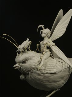 "Tinkerbell by Patrick ""The Small"" Masson · Putty&Paint Fantasy Creatures, Mythical Creatures, 3d Art, 3d Fantasy, Poses References, Art Sculpture, 3d Prints, Arte Pop, Creature Design"