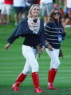 Lindsey Vonn: 2013 Presidents Cup at Muirfield Village Golf Club - Posted on October 2013 Red Hunter Boots, Hunter Boots Outfit, Hunter Rain Boots, Lindsey Vonn, Rainy Day Outfit For Fall, Wellies Rain Boots, Cute Celebrities, Sexy Boots, Rain Wear