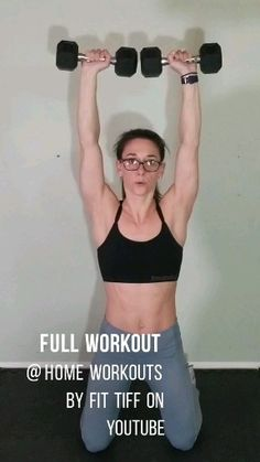 Dumbbell upper body workout video Build strength with this upper body workout . - Dumbbell upper body workout video Build strength with this upper body workout with dumbells. Fitness Video, Body Fitness, Health Fitness, Band Workout, Dumbbell Workout, Workout Body, Pilates Workout, Hiit, Fitness Workout For Women