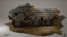 ArtStation - Sci fi cargo tank, Anton Kavousi
