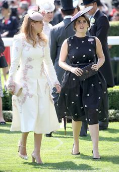 dailymail: Royal Ascot Day 1, June 20, 2017-Princess Beatrice and Princess Eugenie