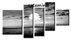 Black & white #landscapes #sundown #sea #art #moon #sky #facebook #italia #colore_italiano