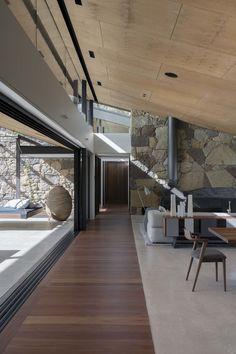 Sliding door recessed into floor- Australian Interior Design Awards