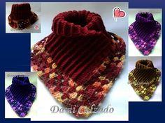 """🌈❤️ CUELLO, PECHERA, INCIO de PONCHO, CHAL """"cualquier talla y modelo"""" ¡NAVIDAD, FRIOS """"tapate""""! - YouTube Ribbed Crochet, Crochet Coat, Irish Crochet, Crochet Clothes, Crochet Flower Scarf, Crochet Flowers, Crochet Designs, Crochet Patterns, Faux Braids"""