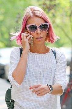 Kelly Ripa Debuts Pink Hair on 'Live!' and Reveals She Wants to Go Red Next!