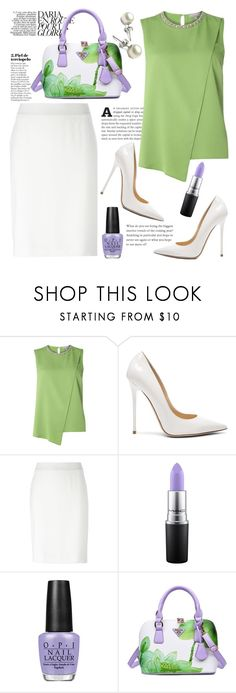 """""""you're playing with my mind"""" by anilia ❤ liked on Polyvore featuring Dorothy Perkins, Jimmy Choo, Armani Collezioni, MAC Cosmetics and OPI"""