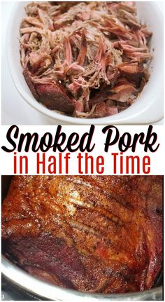 Smoked Pork in Half the Time - Simple Pressure Cooker Meals - Instant Pot Pulled Pork Cooking Pork Shoulder, Smoked Pork Shoulder, Pork Shoulder Recipes, Pork Shoulder Roast, Instant Pot Pork Roast Recipe, Pork Roast Recipes, Pulled Pork Recipes, Smoked Pork But Recipes, Smoker Recipes