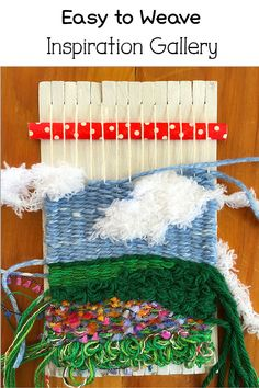 Come see what you can weave on a little loom. There are some fun weaving kits on the site, too! #weaving #littleloom #learntoweave