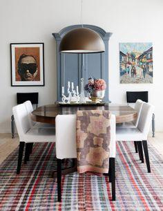 Dining Room Symmetry Via Sköna Hem Painted Armoire Living Kitchen