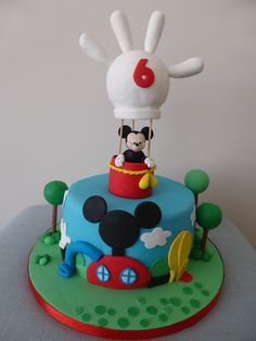 Bolo da Casa do Mickey Mouse