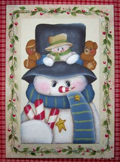 Holiday Friends ePacket [] - $6.00 : Puddles of Paint Shop, Patterns for the Decorative Painter