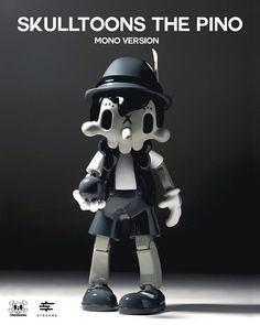 Skulltoons the Pino. Mono Version. on Behance Neo Pop, Print Box, Behance, Branding, Toys, Product Design, Prints, Instagram, Vienna Austria